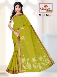 cotton work saree exporters