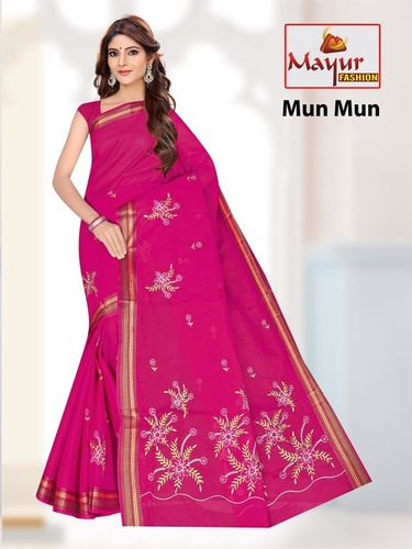 South Cotton Work Saree