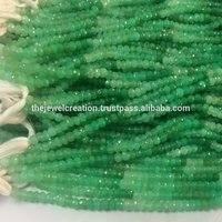 100% Natural AAA Chrysoprase Faceted Rondelle Beads Strand Lot Rough