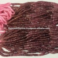 Natural AAA Pink Tourmaline Faceted Rondelle Beads Wholesale Gemstone