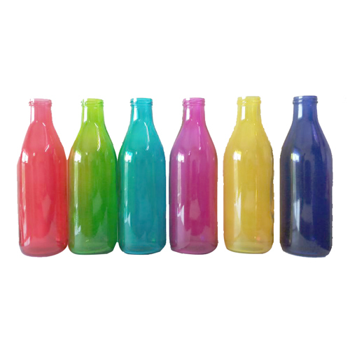 Colored Empty Glass Bottles