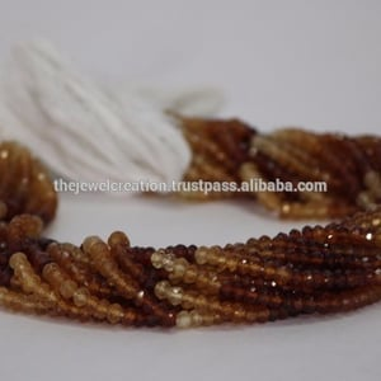 Hassonite Garnet Stone Faceted Rondelle Beads Hessonite