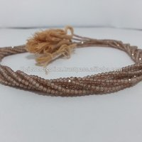 Natural Brown Zircon Faceted Rondelles Beads