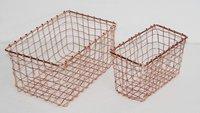 Copper Finish Basket Metal Wire Basket