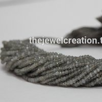 AAA Gray Moonstone Beads Faceted Rondelle Gemstone