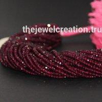Natural Hyderabadi Garnet Stone Rondelle Beads Pink