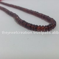 Natural Mozambique Red Garnet Stone Plain Rondelle Beads
