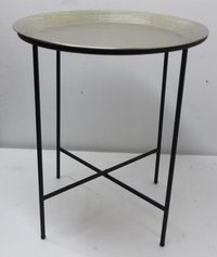 Decorative Table With Hammered Metal Nested Coffee Table83