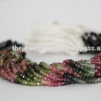 Natural Watermelon Tourmaline Rondelle Beads Gemstone