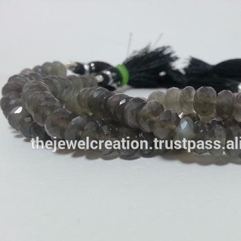 Natural Gray Moonstone Beads Gemstone Bead Handmade Jewelry