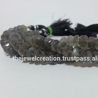 Natural Gray Moonstone Beads Gemstone Bead Handmade Jewelry