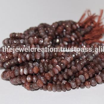 Natural Coffee Chocolate Moonstone Beads Brown