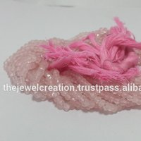 Natural Rose Quartz Faceted Beads For Jewelry Making