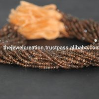 AAA Andalusite Garnet Stone Faceted Beads Brown