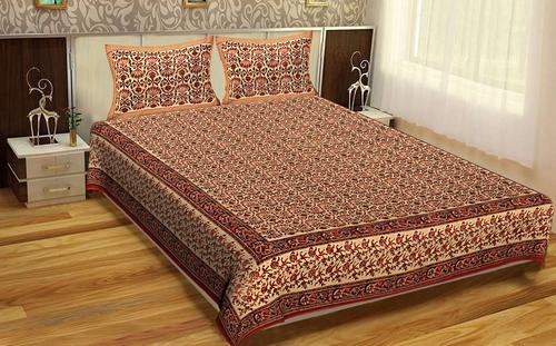 Hand print Brown Color Wall Hangings Indian Bhagru Hand Block Printed Handmade Bed sheet Bedspread Floral Rajasthan Tapestry