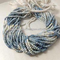 Natural Blue Opal Shaded Stone Gemstone Rondelle Beads 4mm