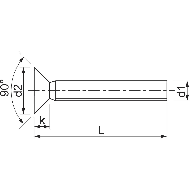 CSK Phillips Machine Screw Cross Recessed Head DIN 965 SS-304