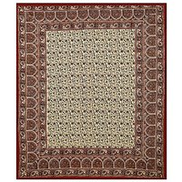 Printed Rajasthani Bagru Print Indian Hand Block Cotton Queen Size Bed Sheet wall hanging Bedspread Tapestry