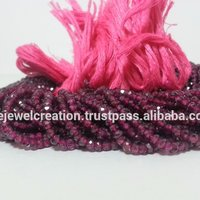 Natural Hyderabadi Garnet Stone Faceted Beads Pink