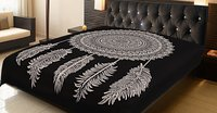 Dream Catcher Design Bedding Black And White Color Indian Cotton Gypsy Tapestry