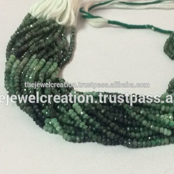 Natural Emerald Stone Faceted Beads Gemstone