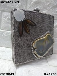 Designer Metal Clutch