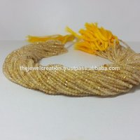 Wholesale 2mm Golden Rutile Quartz Gemstone Micro Faceted Beads
