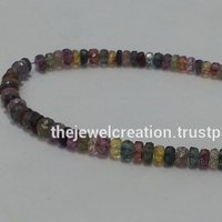 Natural Disco Sapphire Beads Faceted Rondelle Yellow