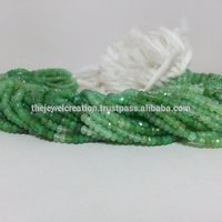 Natural Chrysoprase Gemstone Faceted Rondelle Beads Gems