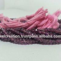 Natural AAA Rhodolite Garnet Stone Rondelle Beads