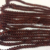Natural Hassonite Brown Garnet Stone Smooth Plain Rondelle Beads