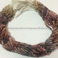 4mm Natural Multi Spinel Faceted Rondelle Gemstone Beads