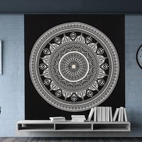 Indian Cotton Deepak Ombre Mandala Hand Printed Handmade Wall Hangings Bedspread Bed Sheet Tapestry