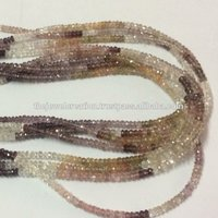 Natural Multi Spinel 4mm Faceted Rondelle Beads Gemstone Lot