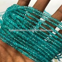 Natural Sky Blue Apatite Faceted Rondelle Beads for Jewelry Making