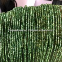 Natural Green Apatite Faceted Rondelle Beads for Jewelry Making