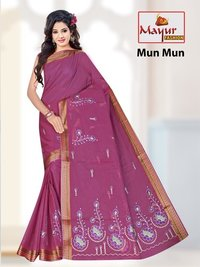South Indian Cotton Work Saree