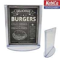 B5 Size Menu Holder Double Sided Visibility