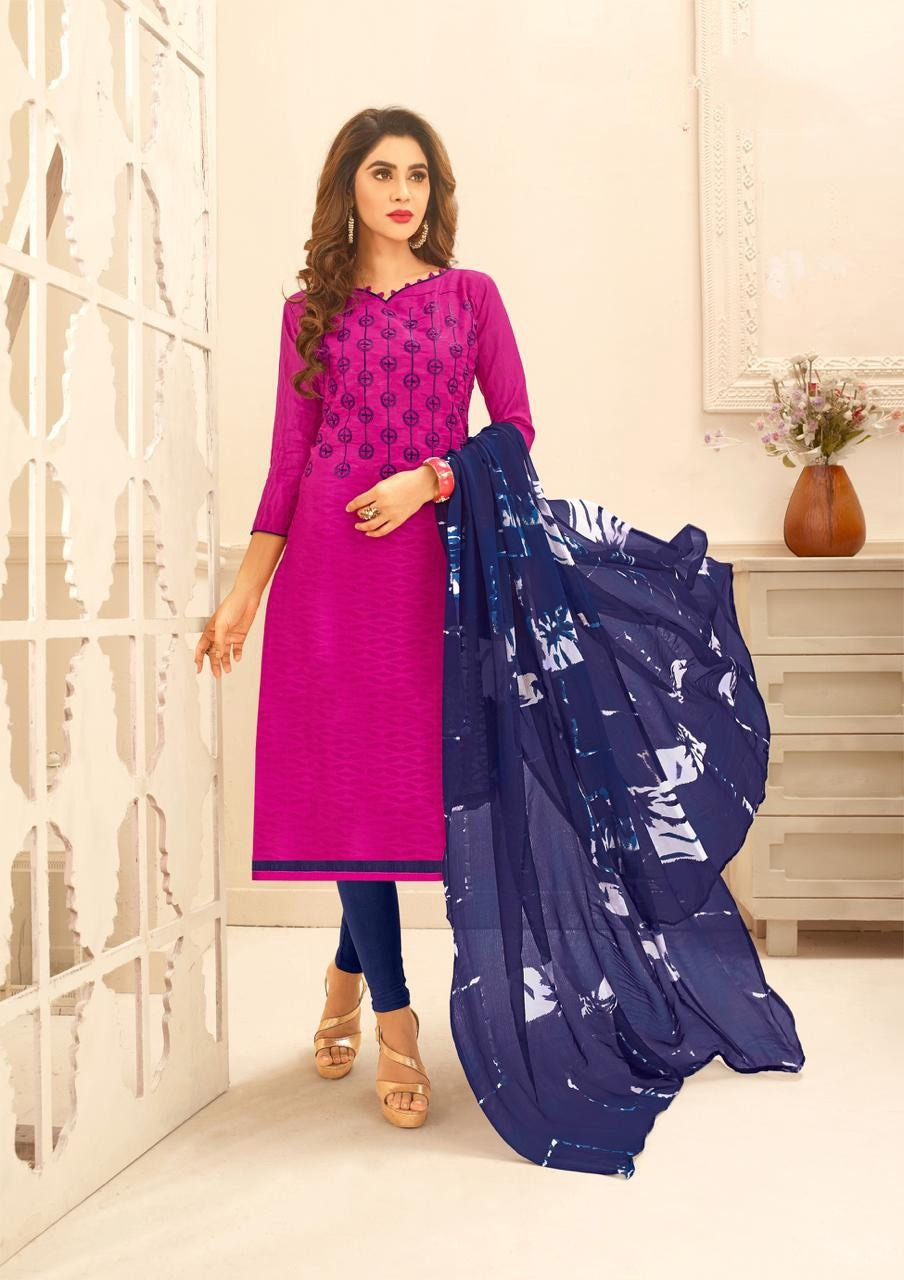Latest Cotton Dress Material For Girl