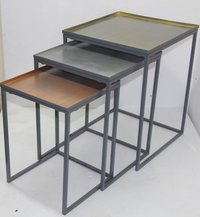 Metal Nesed Stool Set Of 3 Deorative Metal Stools