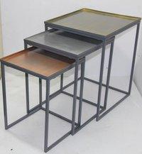 Metal Nesed Stool Set Of 3 Deorative Metal Stools