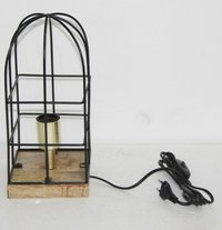 Wooden Lamp With Metal Wire