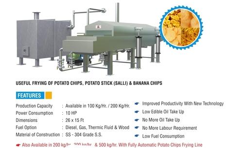 Batch Type Potato Chips Frying Line