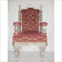 Royal Glass Chair Red Soft Chair