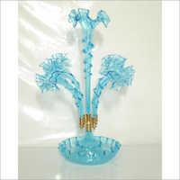 Blue Color Glass centerpiece