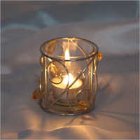 Glass Candle Holder Antique FItting