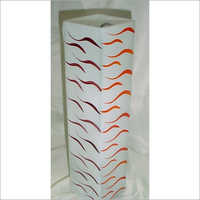 Decorated Long Glass Flower Vase