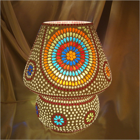 Beautiful Mosaic Glass Table Lamp