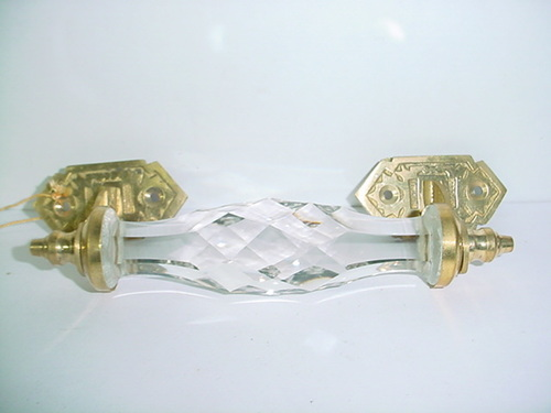 Glass Door Handle With Cut Finish