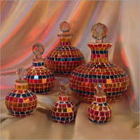 Glass Mosaic Decanter With Stopper